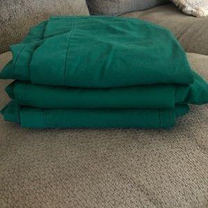 3 pairs XS Hunter green scrub pants
